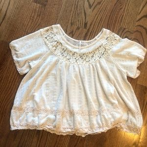 Free People Lacy Top Size Small